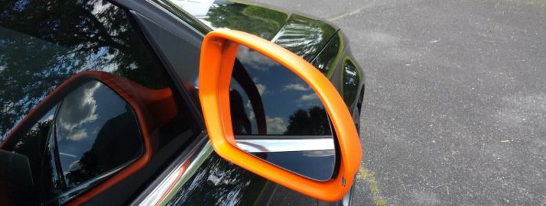 Audi A4 Covering partiel orange mat - www.crea-covering.com